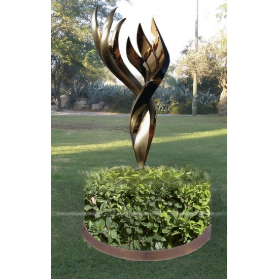 Stainless Steel and Bronze Flame