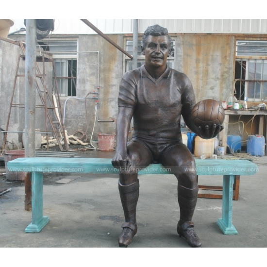 Bronze Footballer Sculpture Public Art